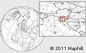 Blank Location Map of Skofljica