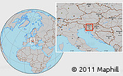 Gray Location Map of Skofljica
