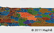Political Panoramic Map of Slovenska Bistrica, darken