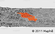 Political Panoramic Map of Slovenska Bistrica, desaturated