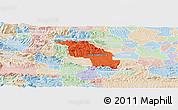 Political Panoramic Map of Slovenska Bistrica, lighten