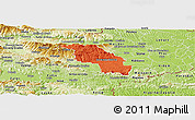 Political Panoramic Map of Slovenska Bistrica, physical outside