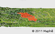 Political Panoramic Map of Slovenska Bistrica, satellite outside