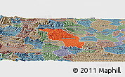 Political Panoramic Map of Slovenska Bistrica, semi-desaturated