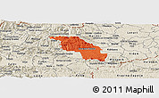 Political Panoramic Map of Slovenska Bistrica, shaded relief outside