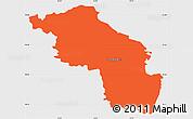 Political Simple Map of Slovenska Bistrica, single color outside