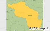 Savanna Style Simple Map of Slovenska Bistrica