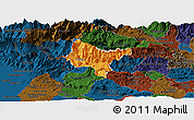 Political Panoramic Map of Tolmin, darken