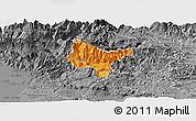 Political Panoramic Map of Tolmin, desaturated