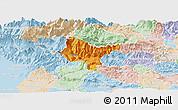Political Panoramic Map of Tolmin, lighten