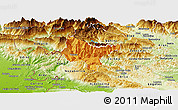 Political Panoramic Map of Tolmin, physical outside