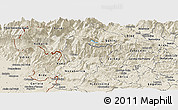 Shaded Relief Panoramic Map of Tolmin