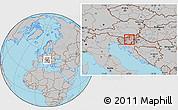 Gray Location Map of Trbovlje