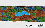 Political Panoramic Map of Trebnje, darken