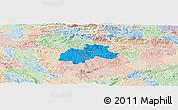 Political Panoramic Map of Trebnje, lighten