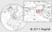 Blank Location Map of Vipava