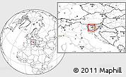 Blank Location Map of Vrhnika