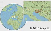 Savanna Style Location Map of Vrhnika