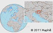 Gray Location Map of Zagorje ob Savi