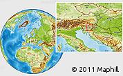 Physical Location Map of Zagorje ob Savi