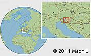 Savanna Style Location Map of Zagorje ob Savi