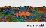 Political Panoramic Map of Zalec, darken