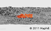 Political Panoramic Map of Zalec, desaturated