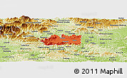 Political Panoramic Map of Zalec, physical outside