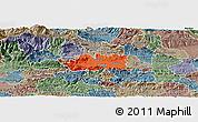 Political Panoramic Map of Zalec, semi-desaturated