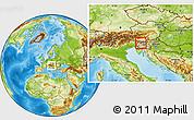 Physical Location Map of Zelezniki