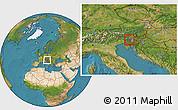 Satellite Location Map of Zelezniki
