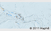 Classic Style 3D Map of Solomon Islands