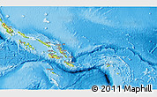 Physical 3D Map of Solomon Islands