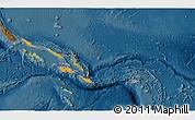 Political Shades 3D Map of Solomon Islands, darken