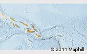 Political Shades 3D Map of Solomon Islands, lighten