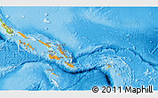 Political Shades 3D Map of Solomon Islands, physical outside