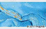 Political Shades 3D Map of Solomon Islands