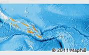 Political Shades 3D Map of Solomon Islands, single color outside
