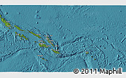 Satellite 3D Map of Solomon Islands