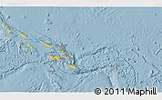 Savanna Style 3D Map of Solomon Islands