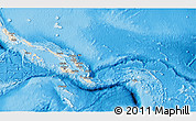 Shaded Relief 3D Map of Solomon Islands