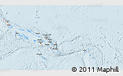Silver Style 3D Map of Solomon Islands