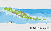 Physical Panoramic Map of Choiseul