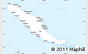 Silver Style Simple Map of Choiseul