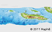 Physical Panoramic Map of Guadalcanal