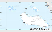 Silver Style Simple Map of Guadalcanal