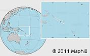 Blank Location Map of Solomon Islands, gray outside