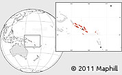 Blank Location Map of Solomon Islands, highlighted continent