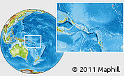 Blank Location Map of Solomon Islands, physical outside
