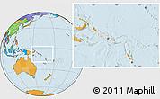 Blank Location Map of Solomon Islands, political outside